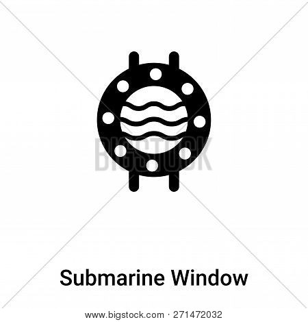 Submarine Window Icon In Trendy Design Style. Submarine Window Icon Isolated On White Background. Su