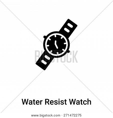 Water Resist Watch Icon In Trendy Design Style. Water Resist Watch Icon Isolated On White Background