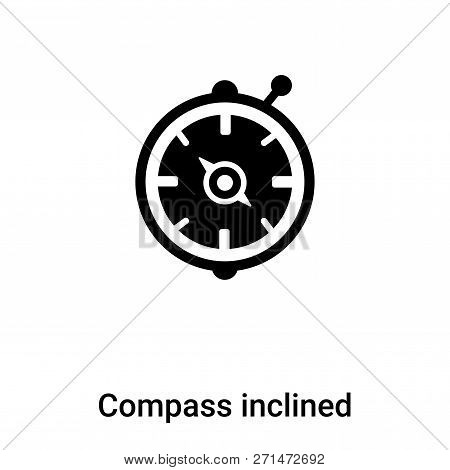 Compass Inclined Icon In Trendy Design Style. Compass Inclined Icon Isolated On White Background. Co