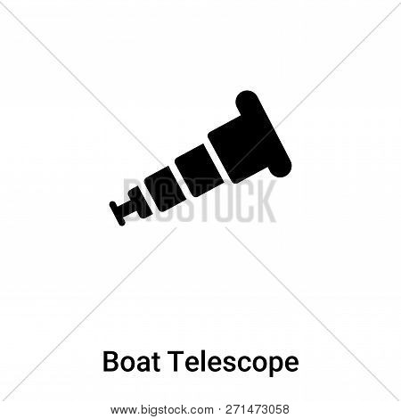 Boat Telescope Icon In Trendy Design Style. Boat Telescope Icon Isolated On White Background. Boat T