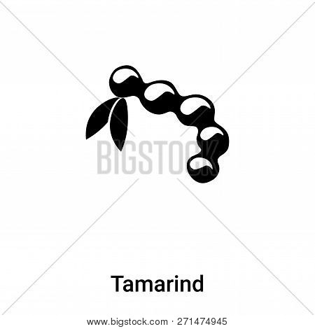 Tamarind Icon In Trendy Design Style. Tamarind Icon Isolated On White Background. Tamarind Vector Ic