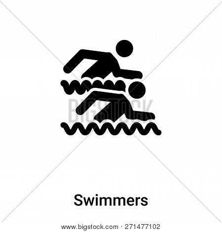 Swimmers Icon In Trendy Design Style. Swimmers Icon Isolated On White Background. Swimmers Vector Ic
