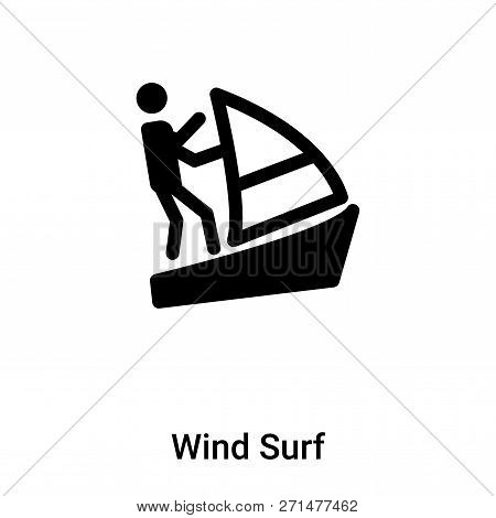 Wind Surf Icon In Trendy Design Style. Wind Surf Icon Isolated On White Background. Wind Surf Vector