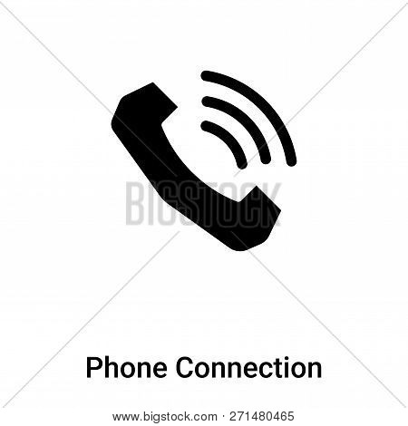 Phone Connection Icon In Trendy Design Style. Phone Connection Icon Isolated On White Background. Ph