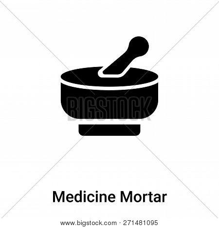 Medicine Mortar Icon In Trendy Design Style. Medicine Mortar Icon Isolated On White Background. Medi