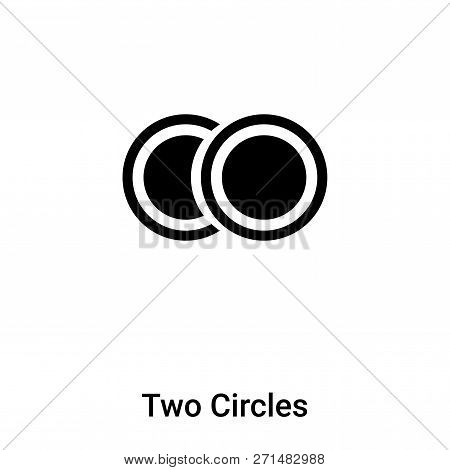 Two Circles Icon In Trendy Design Style. Two Circles Icon Isolated On White Background. Two Circles