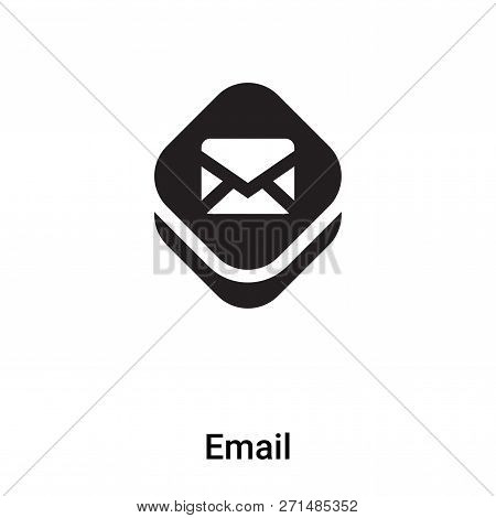 Email Icon In Trendy Design Style. Email Icon Isolated On White Background. Email Vector Icon Simple