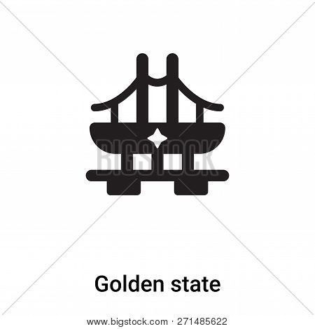 Golden State Icon In Trendy Design Style. Golden State Icon Isolated On White Background. Golden Sta