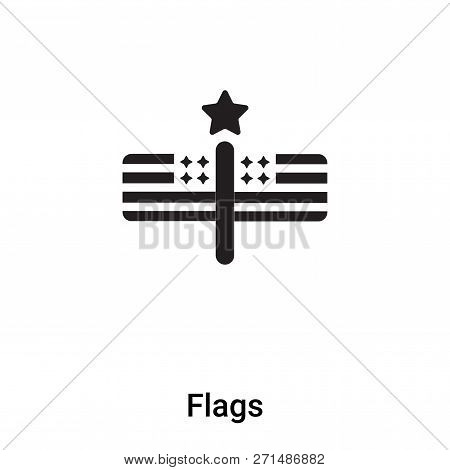 Flags Icon In Trendy Design Style. Flags Icon Isolated On White Background. Flags Vector Icon Simple
