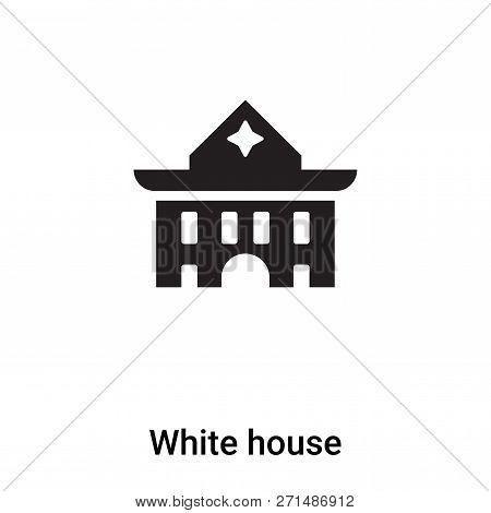 White House Icon In Trendy Design Style. White House Icon Isolated On White Background. White House