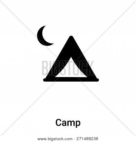 Camp Icon In Trendy Design Style. Camp Icon Isolated On White Background. Camp Vector Icon Simple An