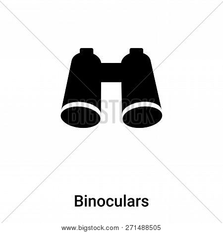 Binoculars Icon In Trendy Design Style. Binoculars Icon Isolated On White Background. Binoculars Vec