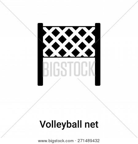 Volleyball Net Icon In Trendy Design Style. Volleyball Net Icon Isolated On White Background. Volley