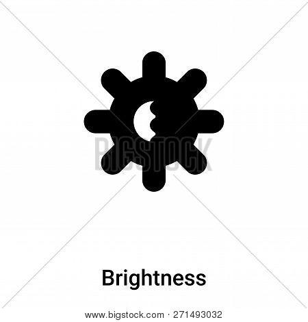 Brightness Icon In Trendy Design Style. Brightness Icon Isolated On White Background. Brightness Vec