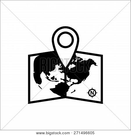 Pin On Map Icon Isolated On White Background. Pin On Map Icon Icon In Trendy Design Style. Pin On Ma