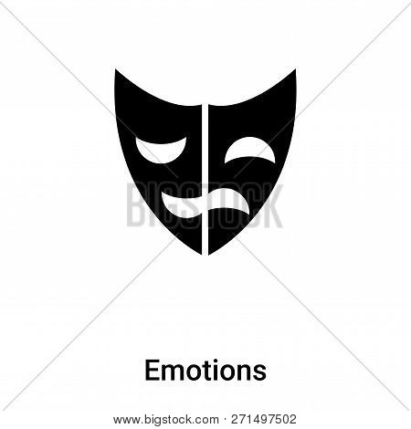 Emotions Icon In Trendy Design Style. Emotions Icon Isolated On White Background. Emotions Vector Ic