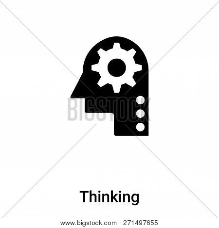 Thinking Icon In Trendy Design Style. Thinking Icon Isolated On White Background. Thinking Vector Ic