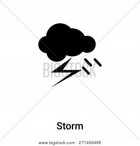 Storm Icon In Trendy Design Style. Storm Icon Isolated On White Background. Storm Vector Icon Simple