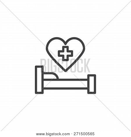 Hospital Bed Outline Vector & Photo (Free Trial) | Bigstock