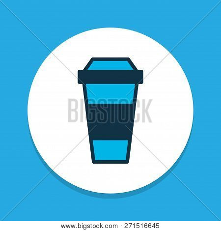 Coffee Icon Colored Symbol. Premium Quality Isolated Decaf Element In Trendy Style.