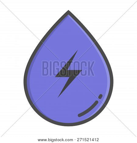 Hydropower Color Concept, Hydropower Icon. Vector Sign