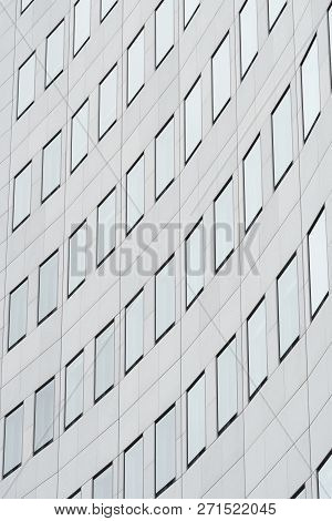 Facade Of A Skyscraper In The City Center Of Leipzig In Germany