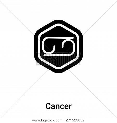 Cancer Icon In Trendy Design Style. Cancer Icon Isolated On White Background. Cancer Vector Icon Sim