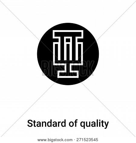 Standard Of Quality Icon In Trendy Design Style. Standard Of Quality Icon Isolated On White Backgrou