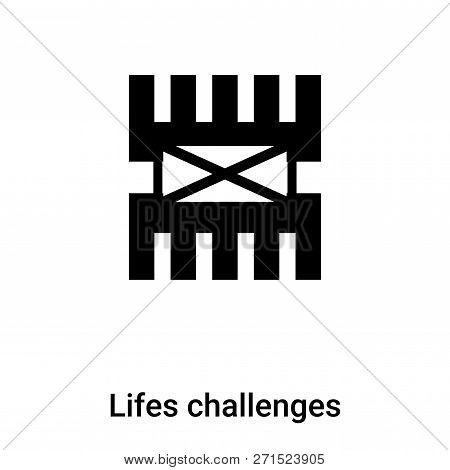 Lifes Challenges Icon In Trendy Design Style. Lifes Challenges Icon Isolated On White Background. Li