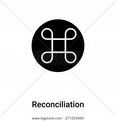 Reconciliation Icon In Trendy Design Style. Reconciliation Icon Isolated On White Background. Reconc