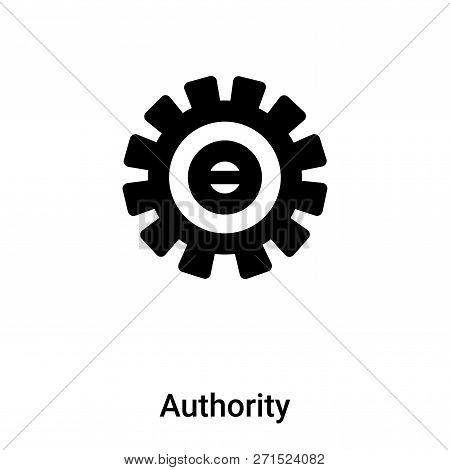 Authority Icon In Trendy Design Style. Authority Icon Isolated On White Background. Authority Vector