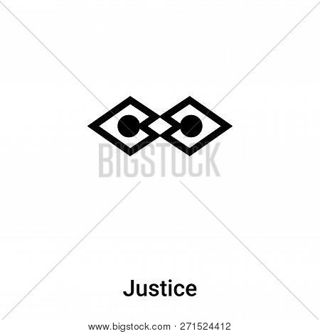 Justice Icon In Trendy Design Style. Justice Icon Isolated On White Background. Justice Vector Icon