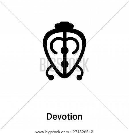Devotion Icon In Trendy Design Style. Devotion Icon Isolated On White Background. Devotion Vector Ic