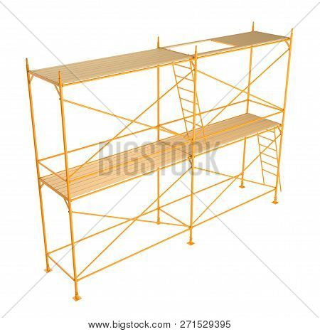 Scaffold Isolated On White Background. 3d Illustration