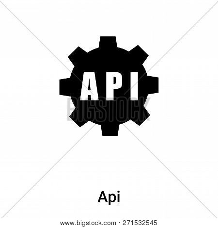 Api Icon In Trendy Design Style. Api Icon Isolated On White Background. Api Vector Icon Simple And M