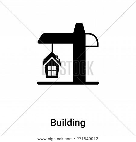 Building Icon In Trendy Design Style. Building Icon Isolated On White Background. Building Vector Ic