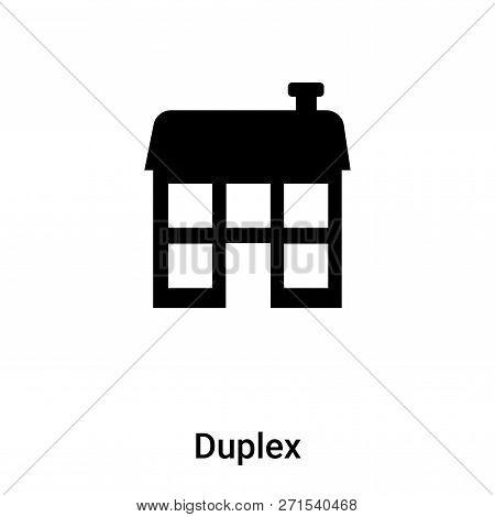 Duplex Icon In Trendy Design Style. Duplex Icon Isolated On White Background. Duplex Vector Icon Sim