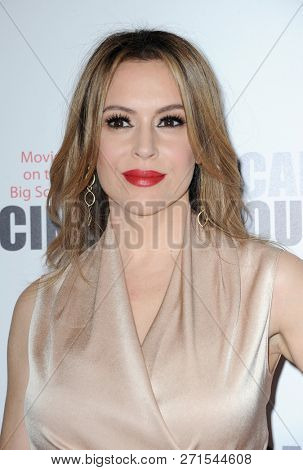 Alyssa Milano at the 32nd American Cinematheque Award Presentation Honoring Bradley Cooper held at the Beverly Hilton Hotel in Beverly Hills, USA on November 29, 2018.