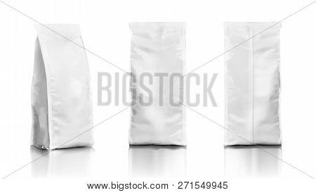 Set Of Realistic Plastic Food Tall Bags