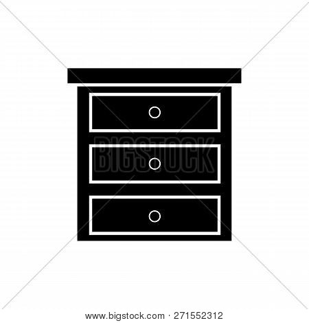 Dresser Icon On White Background. From Furniture Collection Flat Trendy Vector Dresser Symbol. Use F