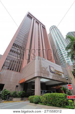 Singapore - November 15, 2018: Monetary Authority Of Singapore Mas. Monetary Authority Of Singapore