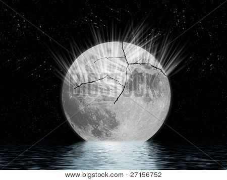 Cracked Moon In The Sea.
