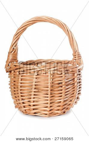 The wattled basket isolated on white background