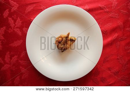 Chicken Wing. Fried Chicken Wing. Red Table Cloth. Room for your text overlay. Fried Chicken dinner. Winner Winner Chicken Dinner.
