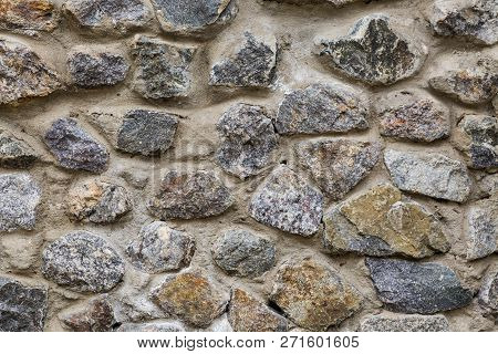 Stone Wall, Background, Diversity, Crafts, Texture, Large Stones In The Form Of A Wall