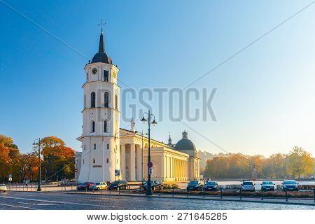 The Cathedral Square, Main Square Of The Vilnius Old Town