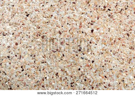 Texture of the exposed aggregate finish flooring, non slip poster