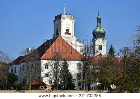 Basilica Of The Assumption Of The Saint  Mary In Gyor,hungary