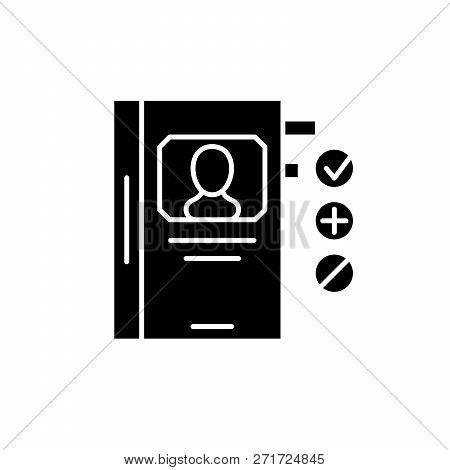 Human Resource Development Black Icon, Vector Sign On Isolated Background. Human Resource Developmen