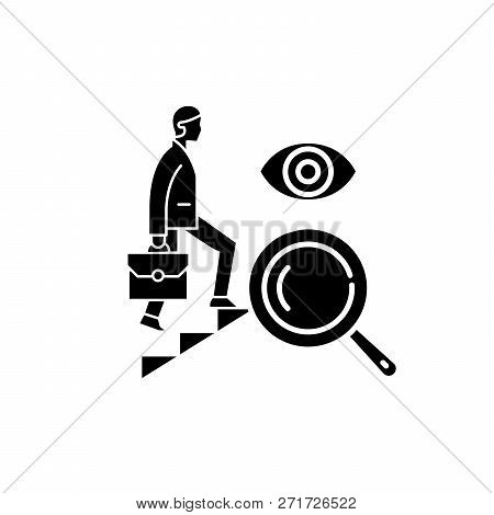 Business Opportunity Black Icon, Vector Sign On Isolated Background. Business Opportunity Concept Sy